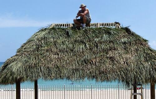 Tiki Hut Repair & Re-Thatching