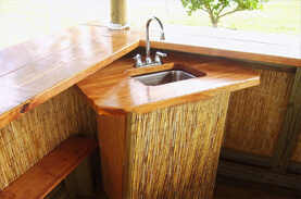 Custom Tiki Hut & Tiki Bar Sinks