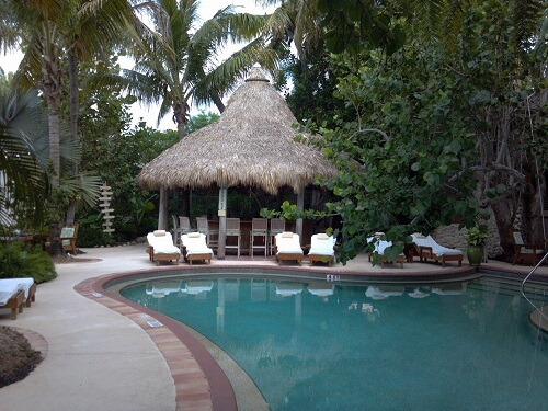 Tiki Hut By Pool